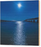 Bahia Moonrise Wood Print