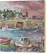 Bailey Island Cribstone Bridge Wood Print