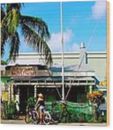 Bait And Tackle Key West Wood Print
