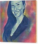 Baiyu In Blue Wood Print by Kenal Louis