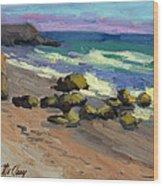 Baja Beach Wood Print