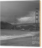 Baker Beach View Wood Print