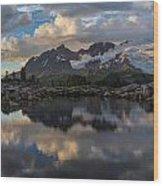 Baker Dusk Cloudscape Wood Print