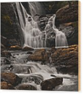 Bakers Fall. Horton Plains National Park. Sri Lanka Wood Print