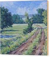 Bakers Ranch Road Wood Print