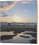 Bakersfield Sunrise Wood Print