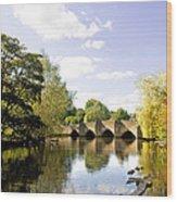 Bakewell Bridge - Over The River Wye Wood Print