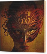 Bal Masque Wood Print