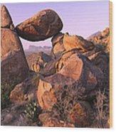 Balanced Rock In The Grapevine Wood Print