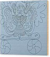 Balancing Clown - Doodle Wood Print