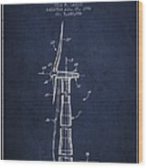 Balancing Of Wind Turbines Patent From 1992 - Navy Blue Wood Print