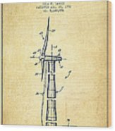 Balancing Of Wind Turbines Patent From 1992 - Vintage Wood Print