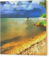 Balaton Shore Wood Print