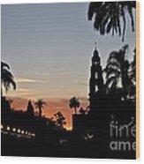 Balboa At Sunset  Wood Print