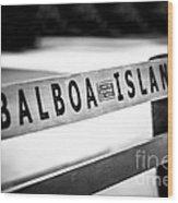Balboa Island Bench In Newport Beach California Wood Print