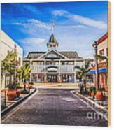 Balboa Main Street In Newport Beach Picture Wood Print by Paul Velgos