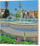 Balboa Park Tower Wood Print