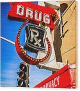 Balboa Pharmacy Drug Store Newport Beach Photo Wood Print