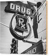 Balboa Pharmacy Drug Store Orange County Photo Wood Print