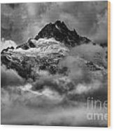 Balck And White Tantalus Peaks Wood Print