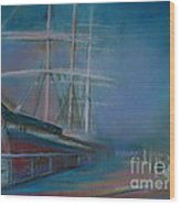 Balclutha In The Mist Wood Print