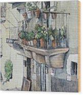 Balcon de piedra Wood Print