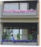 Balconies 4 Wood Print