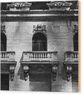 Balconies At Nyse  Wood Print