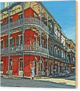 Balconies Painted Wood Print