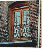 Balcony Doors Wood Print