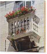 Balcony In Split Croatia Wood Print