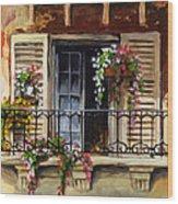 Balcony Of Ferrara Wood Print