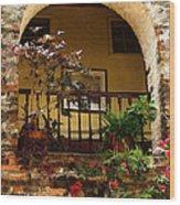 Balcony St Lucia Wood Print