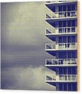 Balcony Study Wood Print