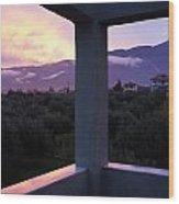 Balcony To Olympos Wood Print