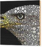 Bald Eagle Art - Eagle Eye - Stone Rock'd Art Wood Print by Sharon Cummings