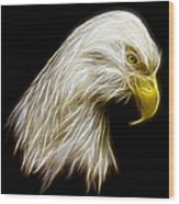 Bald Eagle Fractal Wood Print