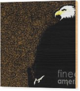 Bald Eagle In Repose Wood Print