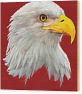 Bald Eagle Painting Wood Print