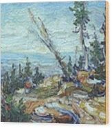 Bald Mountain Vista Wood Print