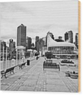 balentien pier canada place and Vancouver waterfront skyline BC Canada Wood Print by Joe Fox