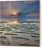 Bali Sunrise Wood Print