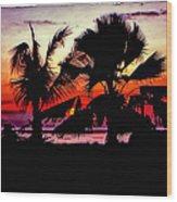 Bali Sunset Polaroid Transfer  Wood Print