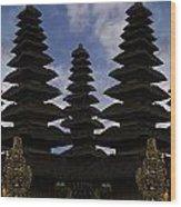 Bali Water Temple Wood Print