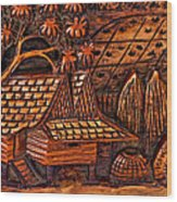 Bali Wood Carving Wood Print