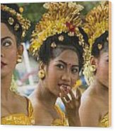 Balinese Dancers Wood Print by David Smith