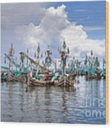 Balinese Fishing Boats Wood Print