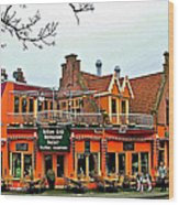 Balkan Restaurant In Enkhuizen-netherlands Wood Print