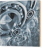 Ball Bearings And Engineering Wood Print
