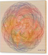 Ball Of Calm Wood Print by Elizabeth S Zulauf